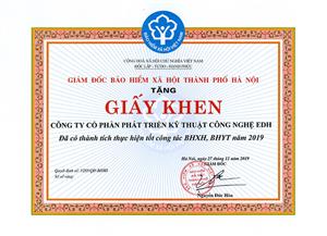 Khen thưởng BHXH 2019